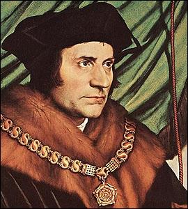 Cet humaniste anglais, canonisé en 1935, est le saint patron des personnalités politiques. Il s'agit de...
