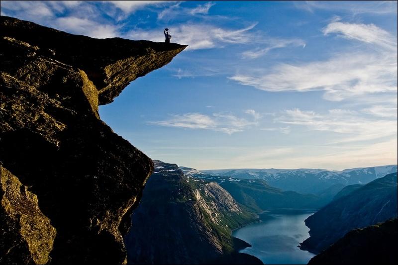 Pour la chute libre, ce fjord est idéal !