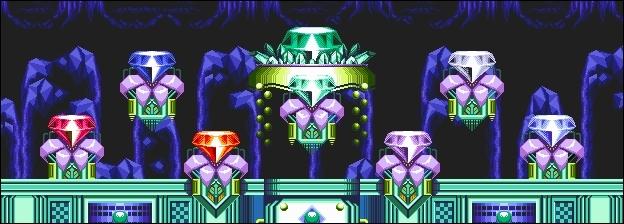 Et celles qui lui permettent de passer en Hyper Sonic ?