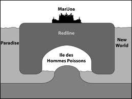 A combien de km sous l'eau se trouve l'île des hommes-poissons ?