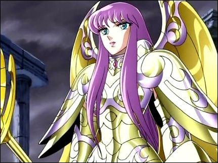 Quelle est l'armure divine portée par Saori ?