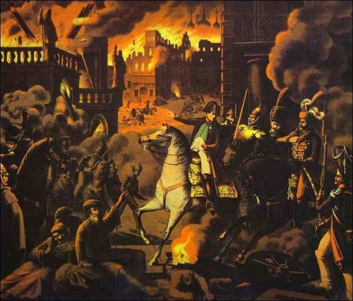 Quelle capitale européenne est brûlée sous l'ordre d'Alexandre 1er, afin que Napoléon ne puisse savourer sa victoire sur la campagne militaire lancée en 1812.