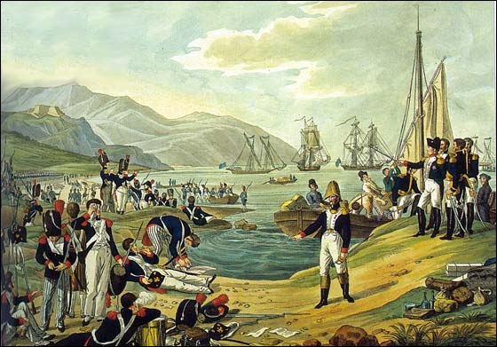 Napoléon ne supportant pas cet exil forcé décide de revenir en France et débarque au Golfe Juan ( 1 er Mars 1815). Napoléon reprend le pouvoir pour une période de