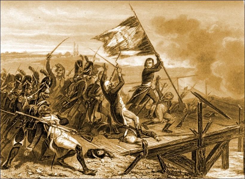 Toujours en 1796, il se retrouve à la tête de l'armée d'Italie et remporte de nombreuses victoires face à l'armée autrichienne. La plus connue est celle du Pont...
