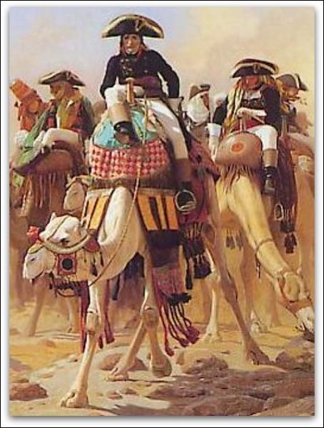 En Avril 1798, il prend la tête de l'armée d'Orient, quelle campagne décide-t-il de commencer ?