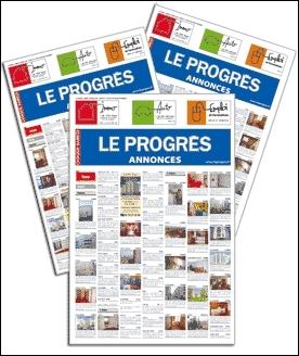 Où se trouve le siège social du quotidien régional  Le Progrès  ?