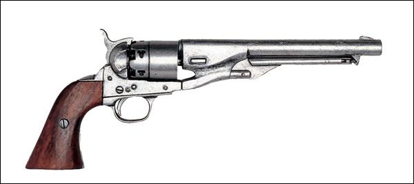 Samuel Colt était un inventeur et un industriel états-unien, connu pour avoir popularisé le révolver. Lequel de ces énoncés est faux à son sujet.