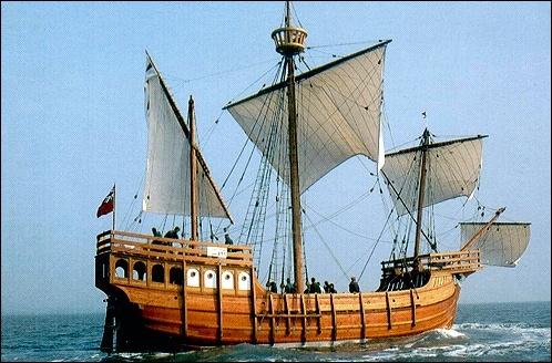 Au temps des Grandes découvertes, la caravelle était le navire prisé dû à sa haute coque, à son faible tirant d'eau et à sa voilure facilement manœuvrable. À quelle nation doit-on ce navire ?
