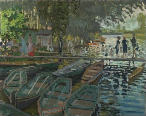 Baigneurs à la Grenouillère , 1869 :