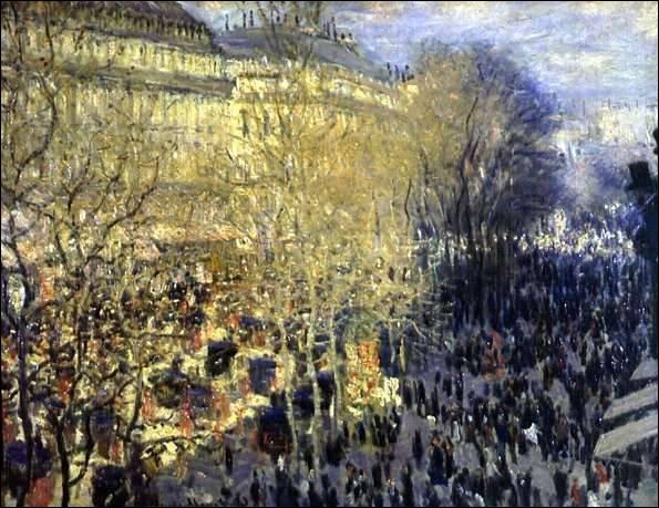 Boulevard des Capucines , 1873 :