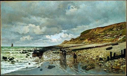 La Pointe de la Hève à marée basse , 1865 :