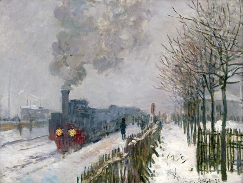 Le Train dans la neige – La Locomotive  :