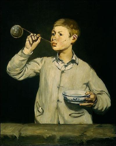 Garçon faisant des bulles , 1867 :