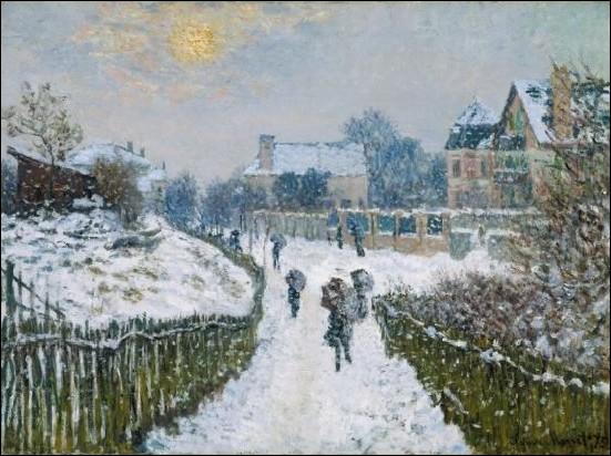 Boulevard St Denis, Argenteuil en hiver , 1875 :