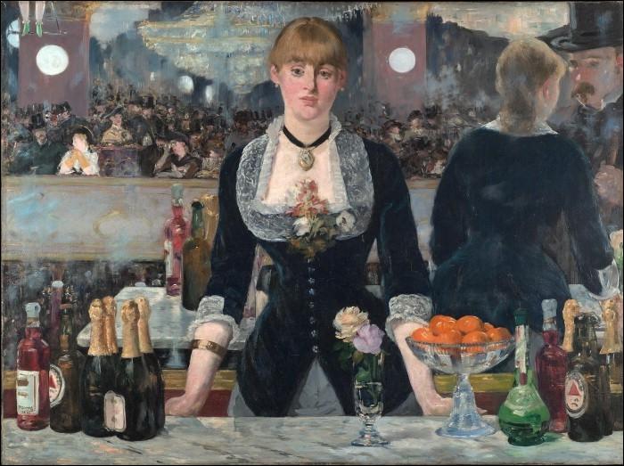 Bar aux Folies-Bergères , 1882 :