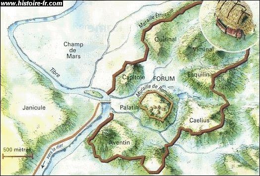 En quelle année Romulus fonda-t-il la cité de Rome ?