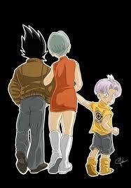 J'ai les cheveux bleus je suis le fils de Bulma et Vegeta. Je suis :