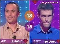 Combien d'argent rapporte chaque point marqué par le challenger ?