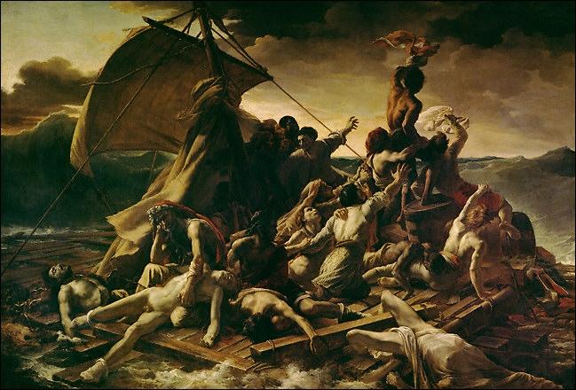 Cette toile se nomme  Le Radeau de la Méduse . Qui a peint cette œuvre controversée ? À quel Grand Courant appartient-elle ?