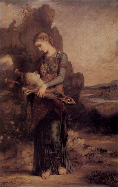 Complétez : voici l'œuvre  Orphée , peinte par... et appartenant au/à l'...