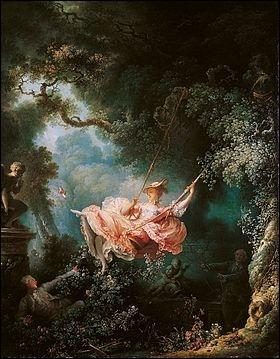 Par qui la toile  Les Hasards heureux de l'escarpolette  a-t-elle été peinte ? À quel courant artistique appartient-elle ?