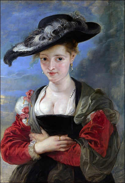 Il s'agit ici de l'œuvre  Le chapeau de paille . Quel peintre l'a réalisée ? À quel courant l'associez-vous ?