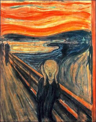 L'œuvre  Le Cri  se veut d'illustrer l'homme moderne emporté par une crise d'angoisse existentielle. Par qui a-t-elle été réalisée et à quel courant artistique appartient-elle ?