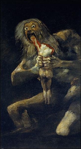La toile  Saturne dévorant un de ses enfants  fait référence à un épisode de la mythologie grecque. Qui a peint cette œuvre particulière ? De quelle série de fresque fait-elle partie ?