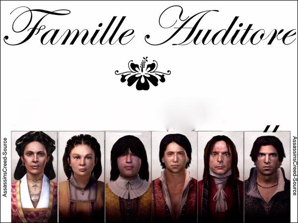 Comment s'appellent les membres de la famille Auditore ?