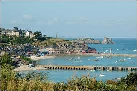 Deux énormes rochers émergent de l'eau limpide et turquoise, en face de la pointe de la Chaîne. Bourgade fondée par Saint-Méen au VIe siècle qui fut autrefois un repaire de pirates.