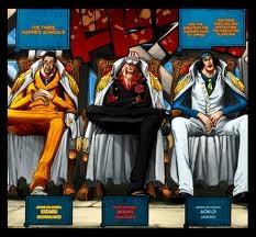 Quand l'amiral en chef Sen Goku a décidé de prendre sa retraite il a recommandé un des trois amiraux à Marijoa pour le remplacer; qui est-ce ?