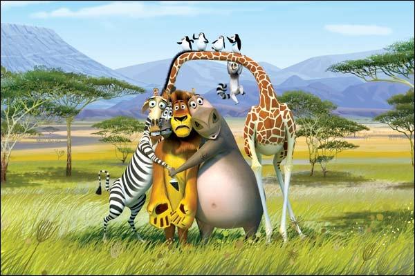 Dans  Madagascar  1, où se trouvent tous ces animaux au début ?