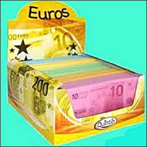 Monnaie unique de l'Union européenne, nous sommes aussi présents sous formes de sucreries. Qui sommes-nous ?