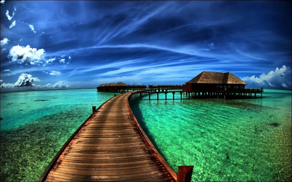 Vous pouvez louer un chalet de ce type aux Maldives !
