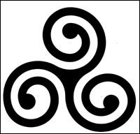 Caractéristique de l'art celtique et des  trois mondes , c'est ...