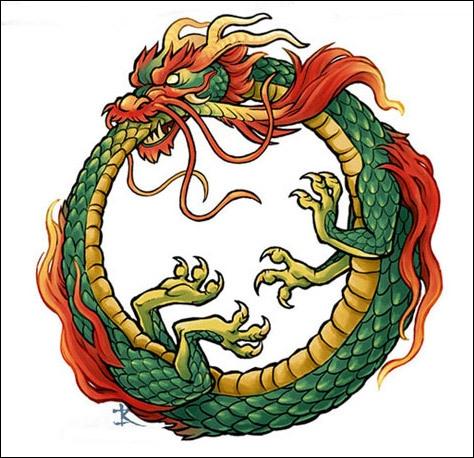 Symbole de l'alchimie et du cycle de la nature, c'est ...
