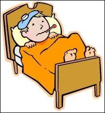 Ce petit gar�on est clou� au lit depuis deux jours par la fi�vre. Il est vraiment...