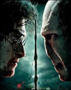 Sur l'affiche du dernier film de la saga  Harry Potter , on peut voir Voldemort et son rival...