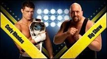 Quel est le vainqueur entre Cody Rhodes et Big Show dans un match simple pour le Intercontinental championship ?