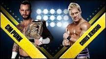 Quel est le vainqueur entre CM Punk et Chris Jericho dans un match simple pour le WWE championship ?