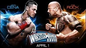 Quel est le vainqueur entre John Cena et The Rock dans un match simple ?