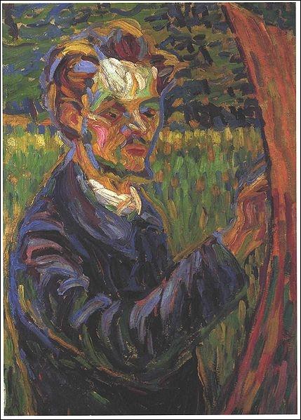 Quel expressionniste allemand a peint ce portrait d'Erich Heckel ?