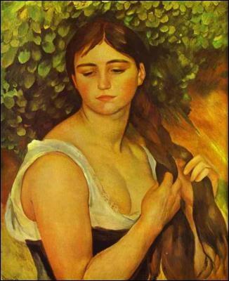 Qui l'a peinte dans  Fille tressant des cheveux  ?