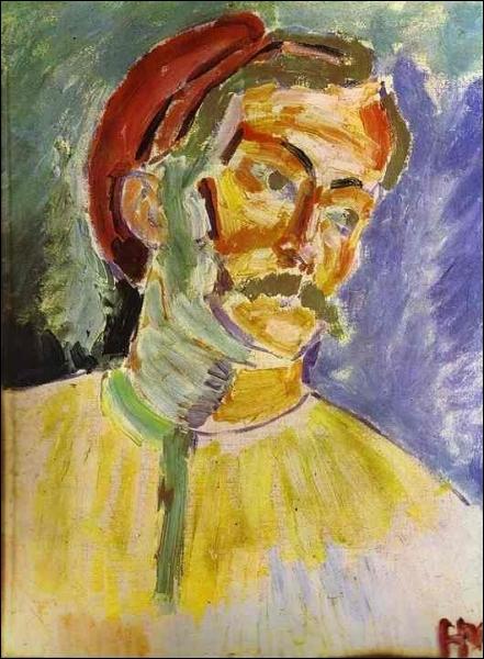 De qui est ce portrait d'André Derain en 1905 ?