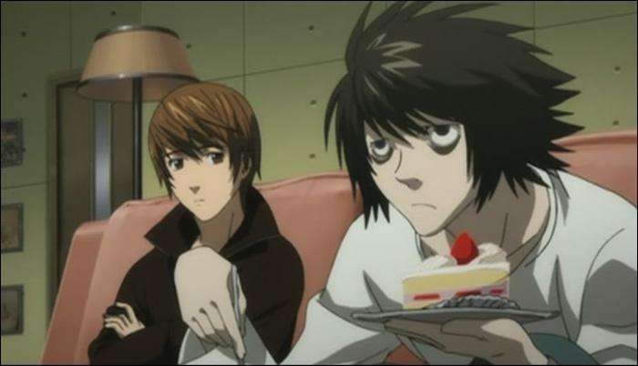 Episode 18 : L demande à Misa si elle compte manger sa part de gâteau, elle répond qu'elle évite les choses sucrées, ça fait grossir. Que lui répond-t-il alors ?