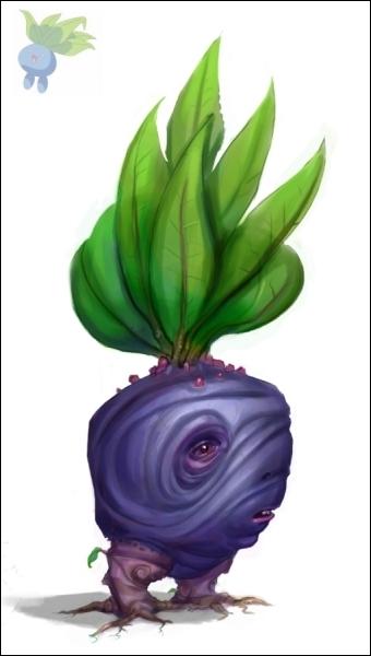 Une espèce de radis bleu, son nom anglais est Oddish, son nom japonais est Nazonokusa !