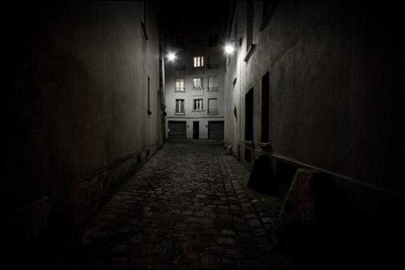 La nuit, c'est-à-dire dans une condition de faible éclairement, seuls les bâtonnets, sensibles à la lumière, sont actifs. L'acuité est faible et la vision des couleurs est nulle. On parle de vision...