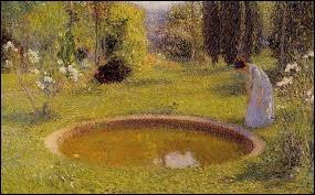 Quel peintre pointilliste né à Toulouse en 1860 est l'auteur de la toile  Jeune femme près d'un bassin  ?