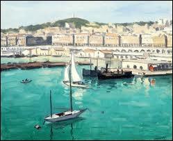 Quel peintre fauviste né à Bordeaux en 1875 a représenté  Le port d'Alger  ?