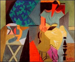 Quel peintre cubiste né à Bordeaux en 1885 est l'auteur de la toile  Femme lisant  ?